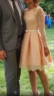 Magnifique robe de mariage civil entièrement en dentelle ros - Occasion du Mariage