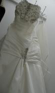 Robe de mariée taille 38 + jupon + voile + diadème - Occasion du Mariage