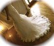 Robe de mariée tulle et fleurs de satin - Occasion du Mariage