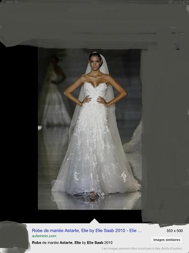 Robe de mari e neuve style elie saab avec petite tra ne for Petite occasion habille les mariages