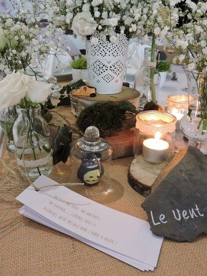 Rondins de bois - Décoration mariage champêtre/vintage - Nord
