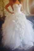 Robe De Mariée Haute Couture Hayari +Boléro+Voile Traine 38/ - Occasion du Mariage