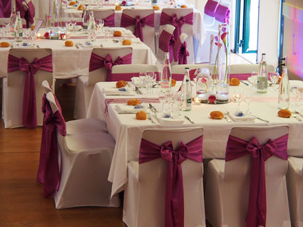 Housses de chaises mariage d occasion table de lit a roulettes - Housse chaise mariage occasion ...