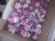 Boule plexi pétales rose gris blanc - Occasion du Mariage