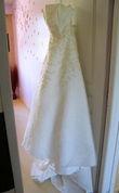 Robe de mariée ivoire Lily tulle de Complicité + jupon+ gants+ voile pas cher 2012