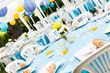 15 nappes turquoises rondes - Occasion du Mariage
