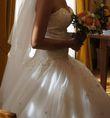 Robe princesse ivoire longue traîne - Occasion du Mariage