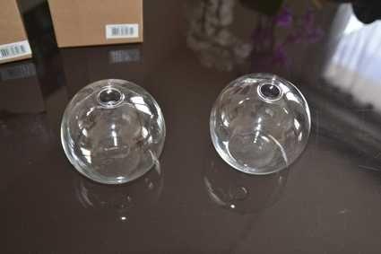Vases boule soliflore en verre Doubs