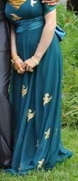 Robe de Soirée couleur bleu canard - Occasion du Mariage