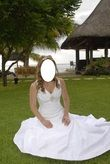 robe de mariée avec voile et diadème - Occasion du Mariage