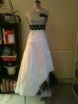 Robe de mariée ivoire et noire - Occasion du Mariage