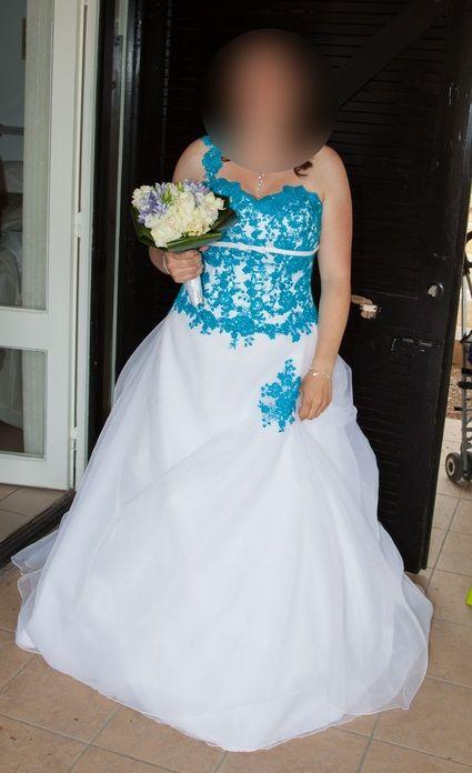Robe de mariée turquoise doccasion - Essonne