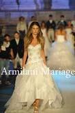 robe de mariée asymetrique blanche  - Occasion du Mariage