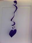 10 Coeurs en accordéon violet à accrocher - Occasion du Mariage