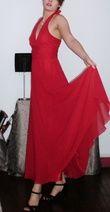 robe de soirée longue, rouge, dos nu, taille 40 - Occasion du Mariage