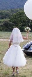 Robe de mariée londonienne style 50s + tous ses accessoires - Occasion du Mariage