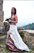 Robe de mariee ivoir et chocolat taille 38 - Occasion du Mariage
