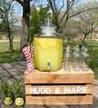 locatio fontaine en verre avec robinet, bonbonnière - Occasion du Mariage