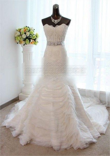 Robe de mari e style vera wang en dentelle et tulle for Collection de robe de mariage vera wang