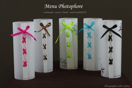menu photophore mariage basic sans ruban. Black Bedroom Furniture Sets. Home Design Ideas