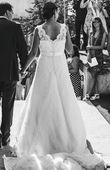 Robe de mariée longue dentelle T38 - Occasion du Mariage