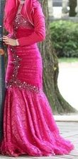 Robe Sirène rose fuschia - Occasion du Mariage