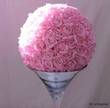Boule de roses de soie XL couleur rose poudré  - Occasion du Mariage