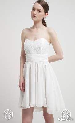 14c265140ea Robe de soirée blanche dentelle neuve - Isère