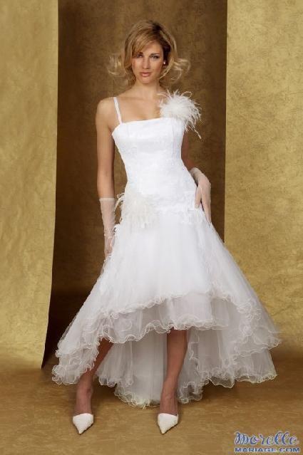 Robe de mariée doccasion couleur blanche en tulle 2012 - Occasion du ...