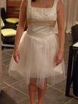 Robe de mariée courte neuve ivoire et champagne pas cher en 2013