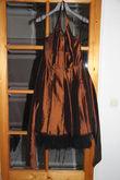 Robe cocktail mi-longue marron cuivré - Occasion du Mariage