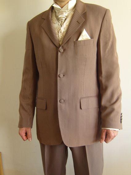 Costume de mariage d'occasion brun et beige