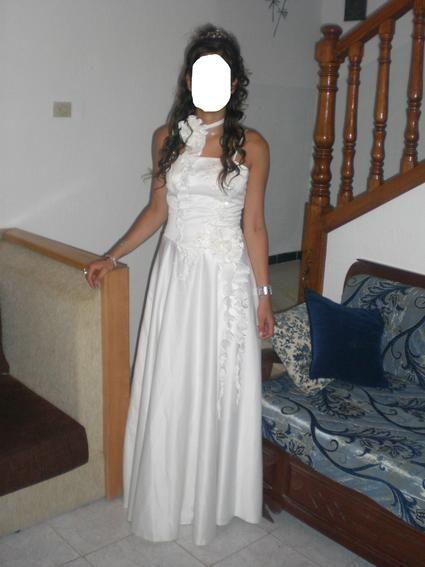 Robe de mariée d'occasion avec collier ras de cou à Paris