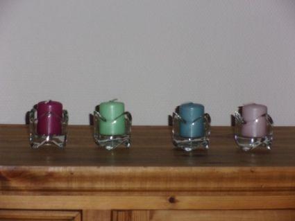 Porte bougies photophores en verre sa ne et loire - Porte bougie en verre ...