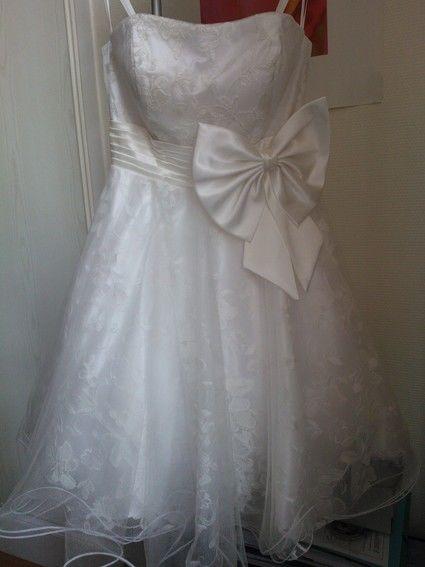 Robe de mariée courte style danseuse en dentelle et tulle - Occasion du Mariage