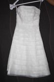 Robe de mariée courte bustier collection 2012 Point Mariage modèle HEGOA