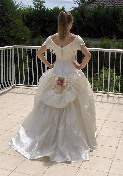 Robe de mariée cymbeline Paris en soie sauvage d'occasion
