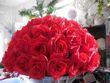Boules de roses rouges artificielles 40 cm  - Occasion du Mariage