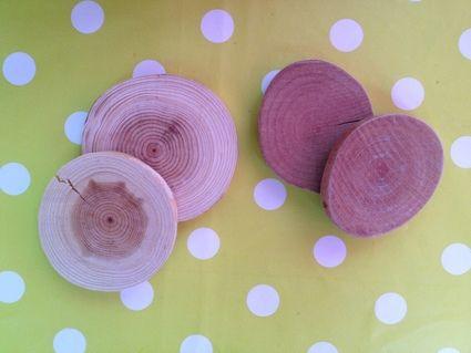 82 rondelles en bois en décoration de table de mariage