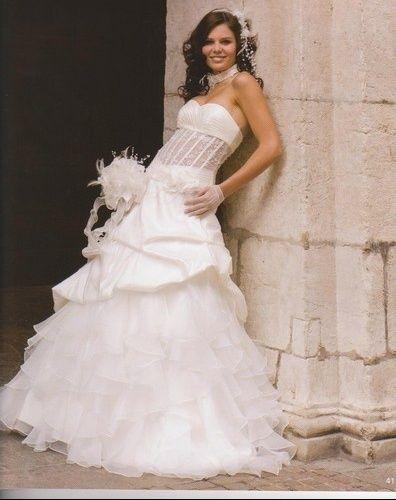 Sublimissime robe de mariée Bustier Ultra Glamour et Sexy