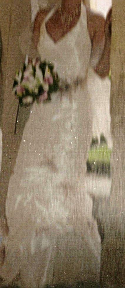 Robe de mariée Linéa Raffaeli avec bustier et jupon pas cher - Occasion du Mariage