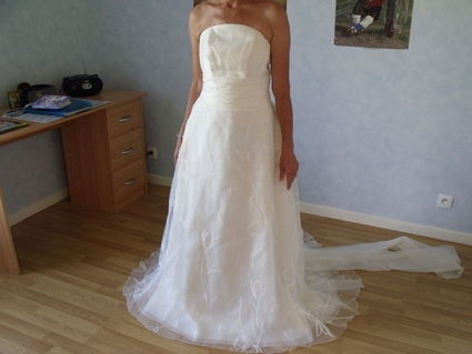 Robe de mariée d'occasion Pronuptia en organza 2012 - Occasion du mariage