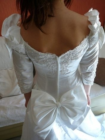 Robe de Mariée Pronuptia 38 avec jupon et traîne d'occasion