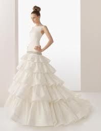 Robe de mariée ROSA CLARA modèle Eleanor et son jupon, revisitée en bustier