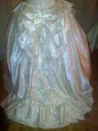 Robe de mariée d'occasion en satin ivoire T38 avec long voile