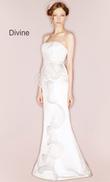 Robe de mariée Suzan Hermann modèle Divine unie satin et tulle en occasion