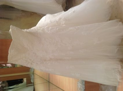 Robe de mariage Pronovias grande taille modèle alcanar d'occasion