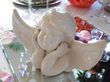 Angelot blanc H 17 cm deco mariage - Occasion du Mariage