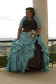 Robe de Mariée Chocolat Turquoise - Occasion du Mariage