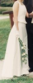 Robe de mariée hervé jupe bustier T36 - Occasion du Mariage